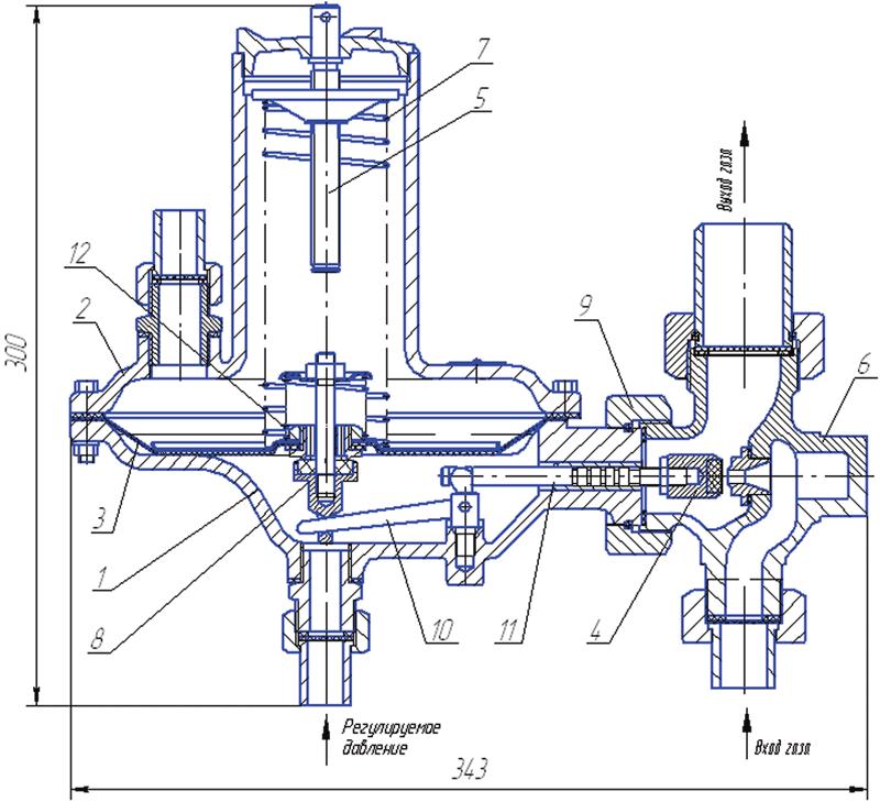 Пружина настроечная для клапана предохранительного сбросного регулятора РД-32М